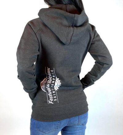 Coton ouaté femme logo blanc